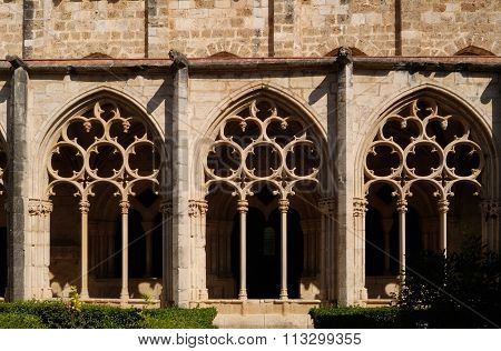 Cloister Of Santes Creus In Tarragona Province, Catalonia,spain