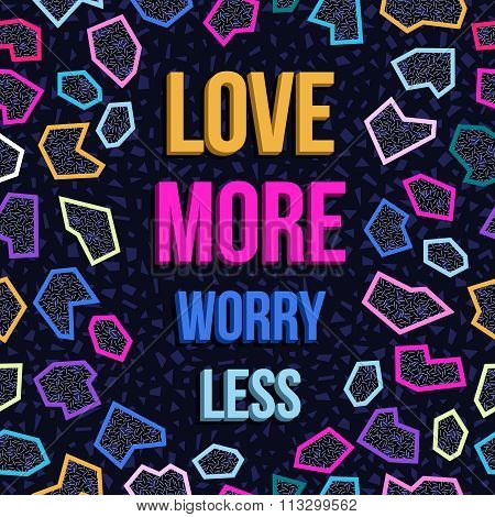 Inspiration Motivation Love Quote 80S Background