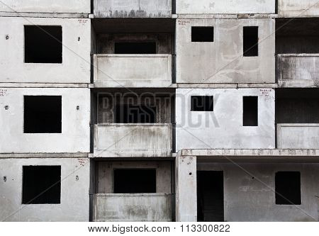 Unfinished Grey Concrete Building