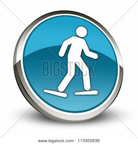 Icon, Button, Pictogram Snowshoeing