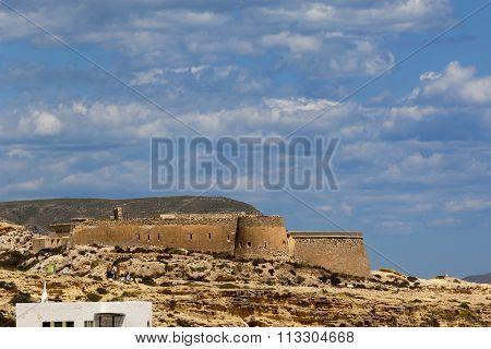 San Felipe, Castle, Cabo De Gata, Natural Parck, Almeria, Andalucia, Spain