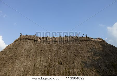 Old Straw-thatched Roof