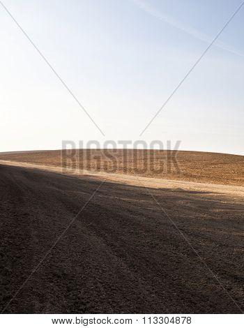 Ploughed Field In Ukraine