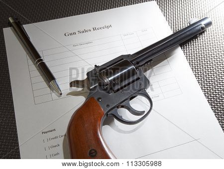 Gun And Receipt