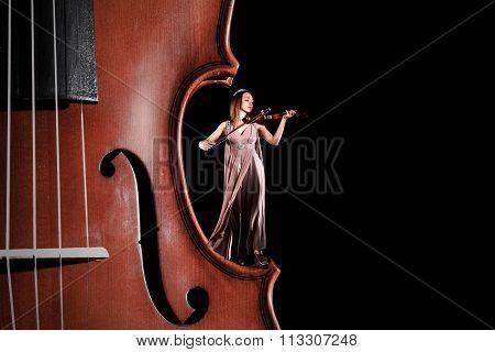 Tiny Female Violinist