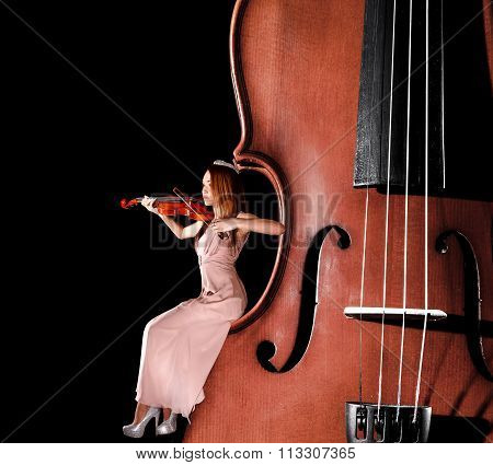 Tiny Female Violinist