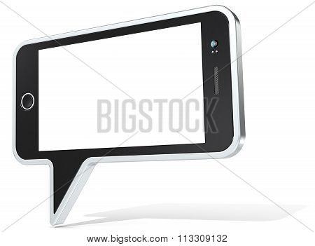 Smartphone Plus Speech Bubble.