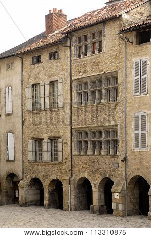 The Bastide Of Villefranche De Rouergue, Aveyron, France.