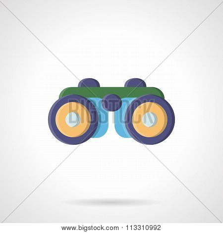 Binoculars flat color style vector icon