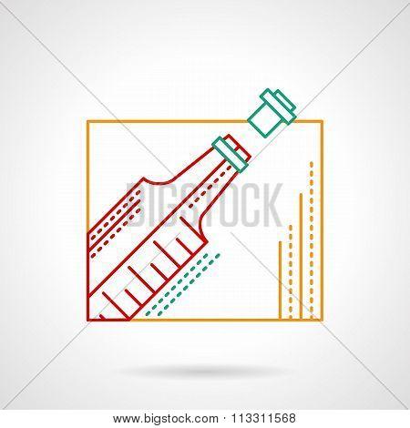 Wine thin color line vector icon