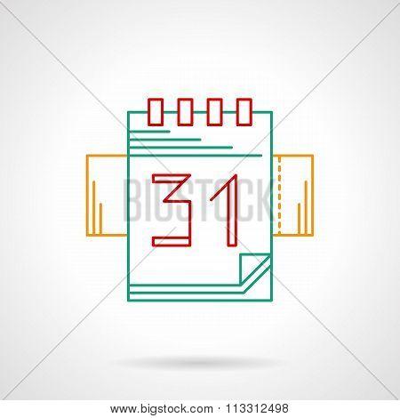 Organizer thin color line vector icon