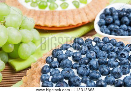 Blueberry Tart And Grape Tart