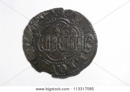 Medieval coin Spain Enrique III