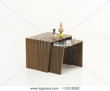 NEW FURNITURE LINE , MODERN DESIGN,  STRAIGHT LINES , MATERIALS : WOOD. TABLE