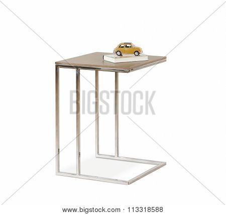 NEW FURNITURE LINE , MODERN DESIGN,  STRAIGHT LINES , MATERIALS : WOOD, METAL . ITEMS : TABLE