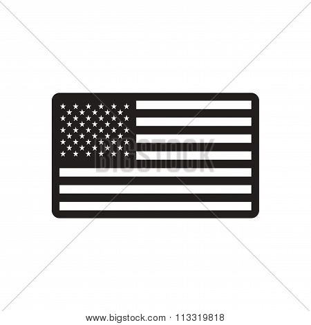stylish black and white icon American flag