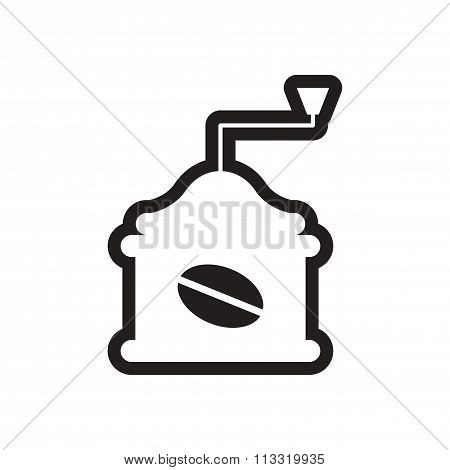stylish black and white icon coffee grinder