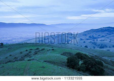 Dusk at Coyote Peak, Santa Teresa County Park, Santa Clara County, California