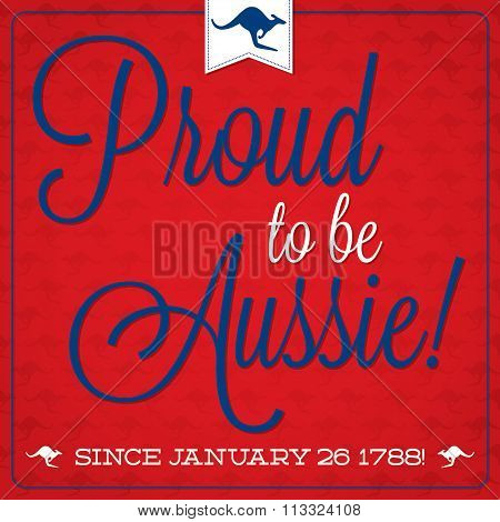 Elegant Typographic Australia Day Card In Vector Format.