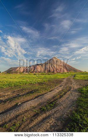 Slagheap of ukrainian steppe