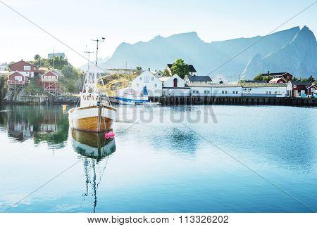 summer in  Reine, Lofoten islands, Norway