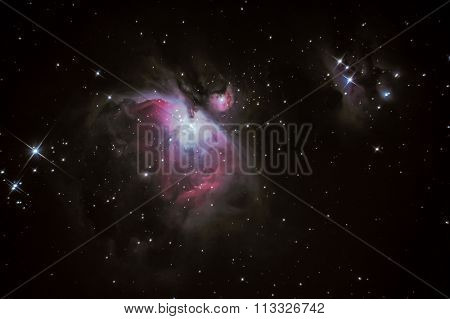 M42 Orion Nebula situated in the Milky Way about 1300 light years from Earth