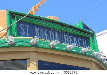 St Kilda beach tram Melbourne Australia