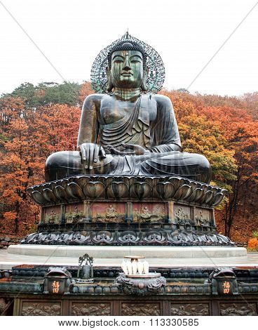 Big Buddha Monument of Sinheungsa Temple in Seoraksan National Park