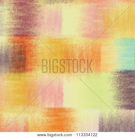 Grunge striped quilt colorful abstract background in pastel colors