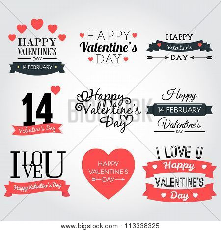 Happy valentine's day banner collection