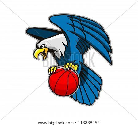 Flying Bald Eagle Grab Basketball