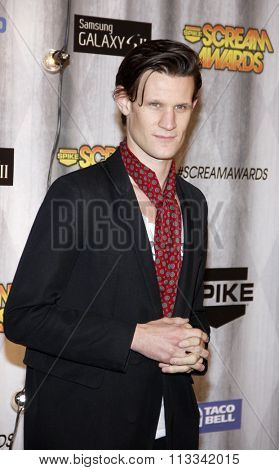 Matt Smith at the Scream Awards 2011 held at the Universal Studios Backlot in Universal City, USA on October 15, 2011.