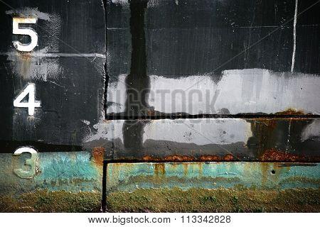 Rusty ship's hull