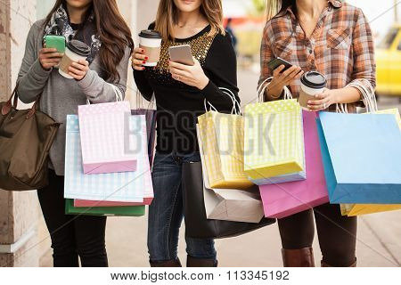 Rich And Shallow Women At A Shopping Mall