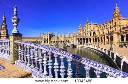 Seville, Spain - beautiful Plaza de Espana