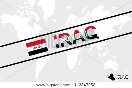 Iraq Map Flag And Text Illustration