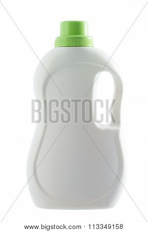 Plastic Bottle Of A Washing Detergent Isolated On A White Background