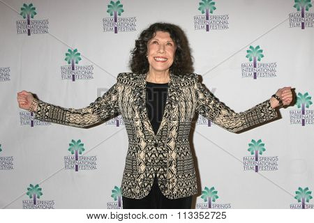 PALM SPRINGS - JAN 4:  Lily Tomlin at the â??Grandmaâ? Q & A at PSIFF at the Annenberg Theater at Palm Springs Art Museum on January 4, 2016 in Palm Springs, CA