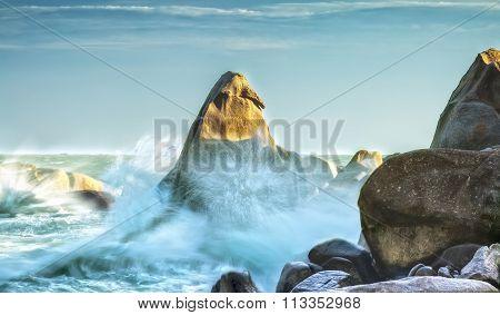 Rock Water Bay in Binh Thuan
