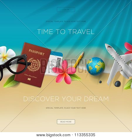 Tourism website template, time to travel