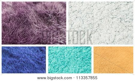 Group Of Closeup Carpet Texture Background