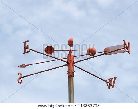 Wind gauge at a pier