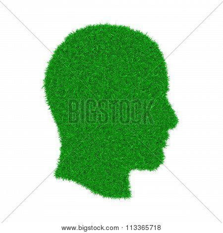 Green Profile Symbol Shape