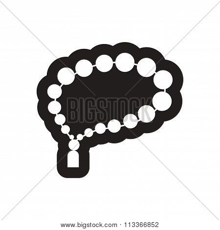 style black and white icon Arab rosary