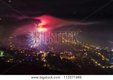 Verbier Colorful Firework