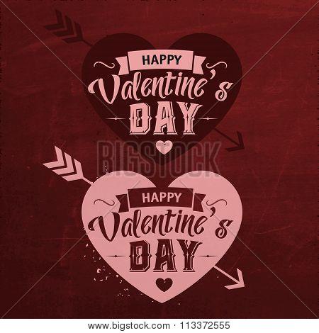 Valentines Day Set Of Typographic Design
