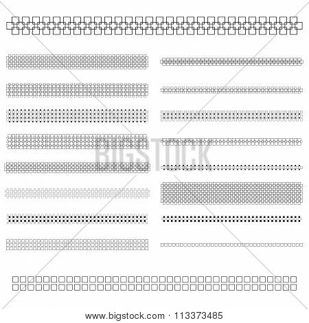 Design elements - text divider line set