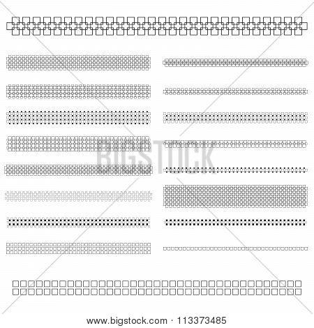 Design elements - text divider line set