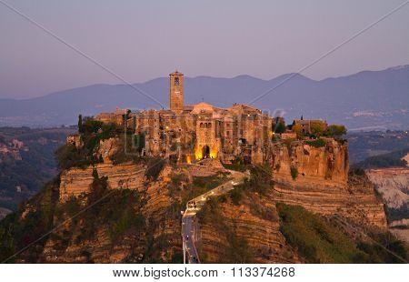 Badlands of Civita of Bagnoregio in Italy
