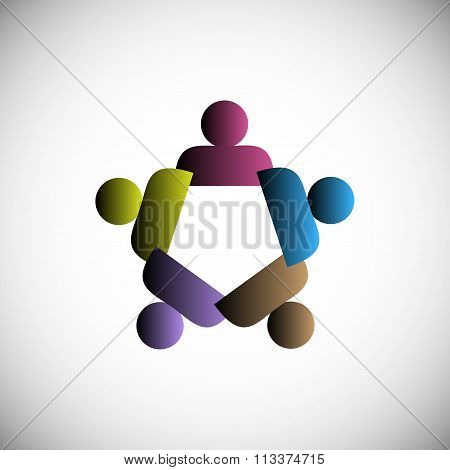Concept of People unity, also represent teamwork, society, integrity and community